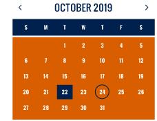 October 2019 Calendar Image